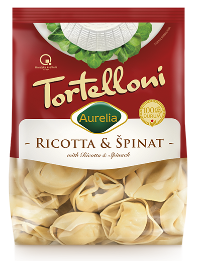 Ricotta and Spinach tortelloni Aurelia